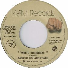Basic Black and Pearl -- White Christmas / Right On Baby - 7