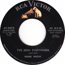 Hank Snow -- I've Been Everywhere / Ancient History - 7