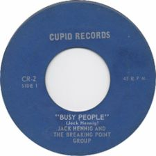 Jack  Hennig and the Breaking Point Group - Busy People / Maybe Tomorrow - 7