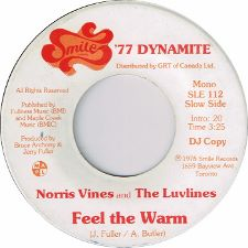 Norris Vines and the Luvlines -- Give In / Feel the Warm - 7