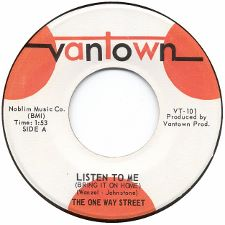 The One Way Street -- Listen to Me (Bring It on Home) / Tears - 7