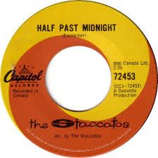 The Staccatos -- Half Past Midnight / Weatherman - 7