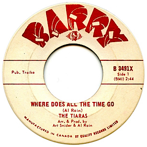 The Tiaras -- Where Does All the Time Go / All I Ever Need Is You - 7